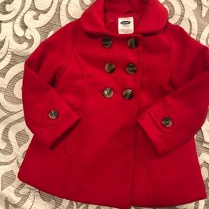 Old Navy Jackets & Coats - Classic Old Navy Red Peacoat sz 3T